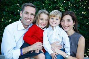 Beau Biden with daughter Natalie, son Hunter, and wife Hallie.